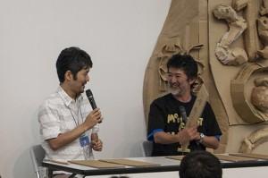 会田誠さんと山口晃さんのトークセッション@霧島アートの森